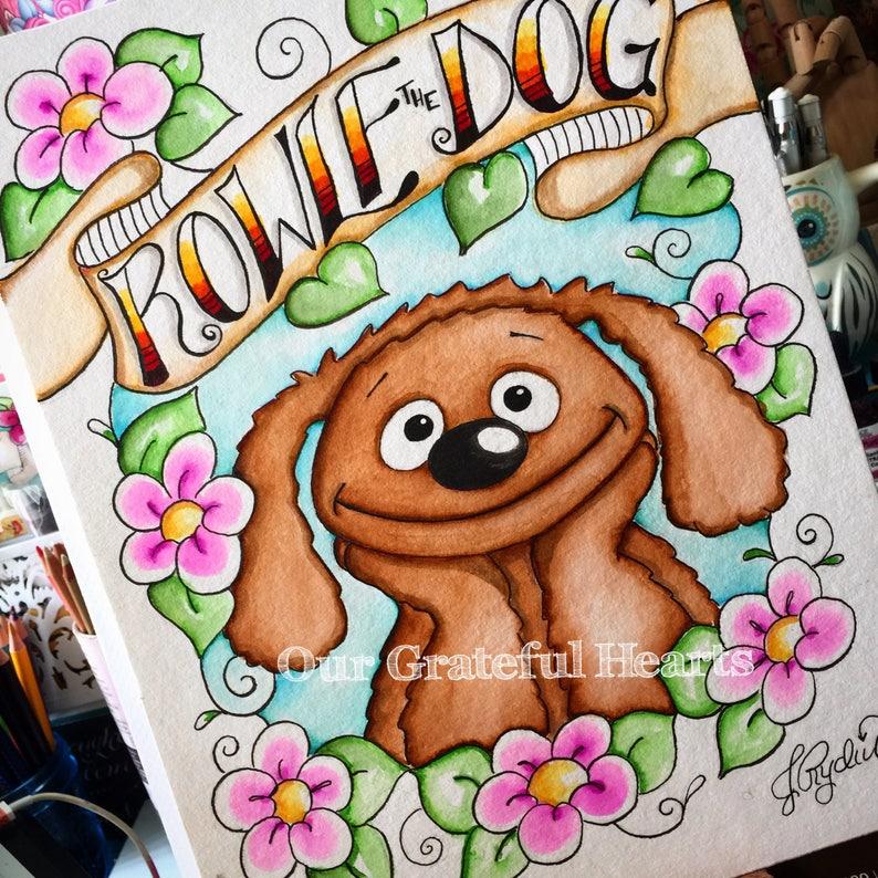 Rowlf the Dog / The Muppets / Muppet Fan Art / Fine Art image 0