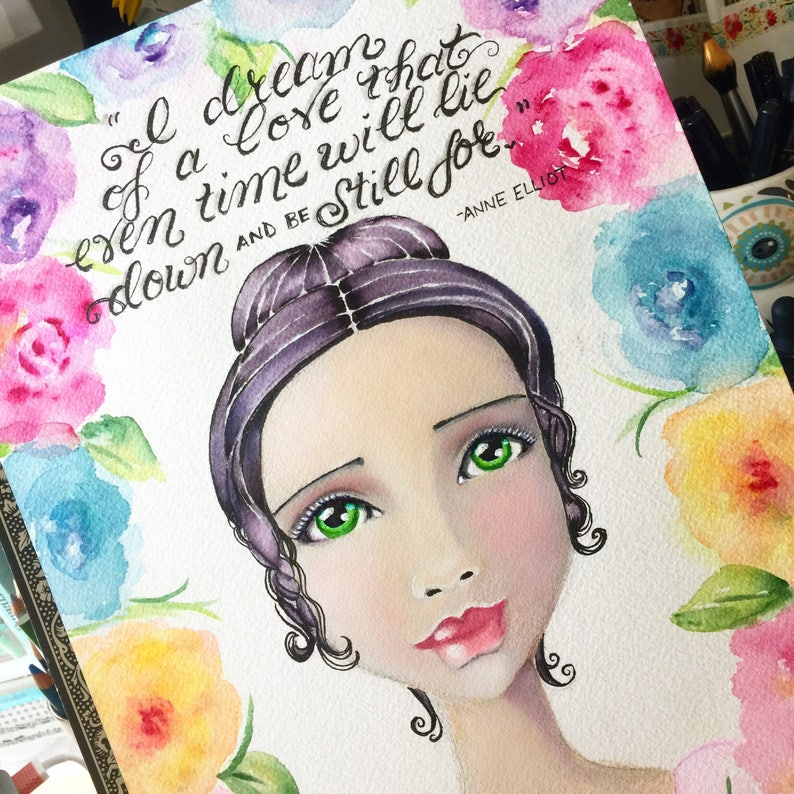 Jane Austen Quote / Anne Elliot / I Dream of a Love That Even image 0
