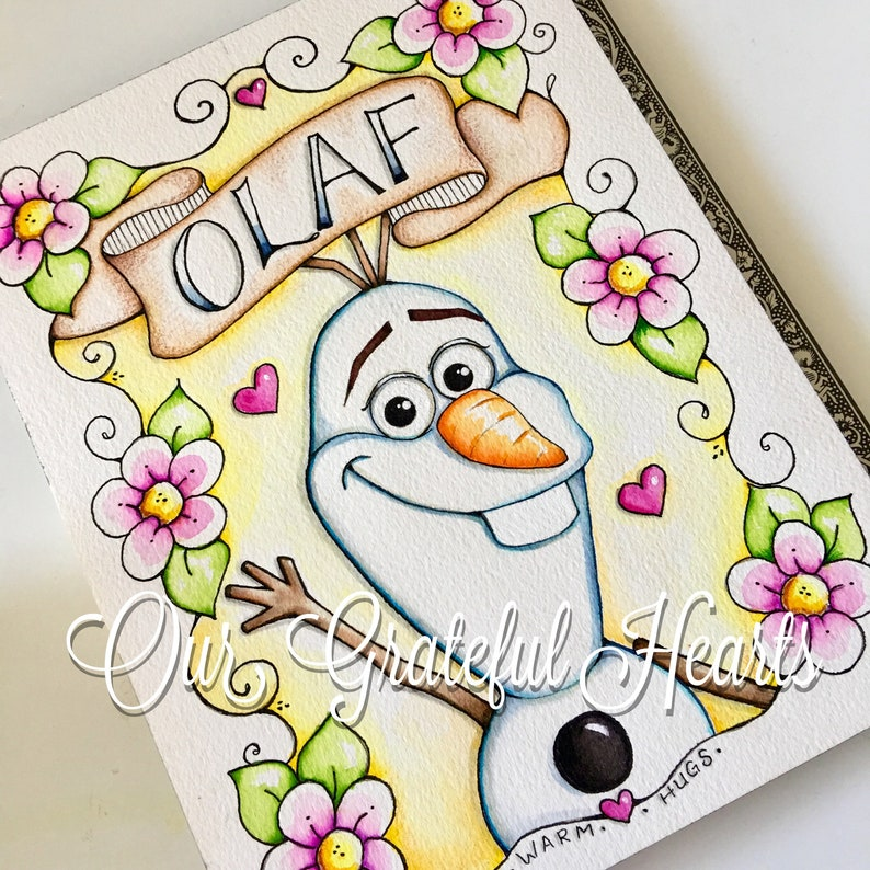 Olaf / Illustration / Watercolor Print / Art for a kids Room / image 0