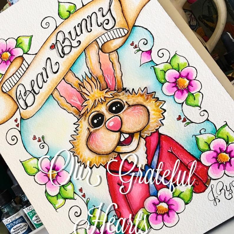 Bean Bunny / The Muppets / Muppet Fan Art / Fine Art image 0
