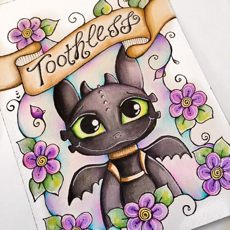 How to Train Your Dragon / Toothless Art / Illustration / image 0
