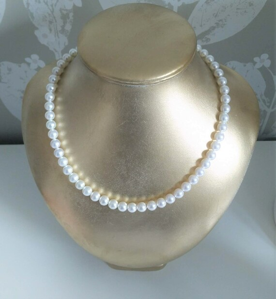 Swarovski Pearl Necklace Ivory White 8mm Pearls Length Etsy