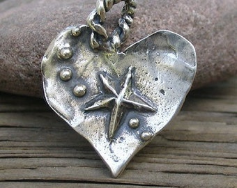 Artisan Crafted Sterling CATCH A FALLING STAR Pendant -33mm