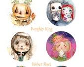 Pumpkin King - sticker sheet - 6 round stickers