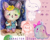 Character Study - Online class - by Mindy Lacefield