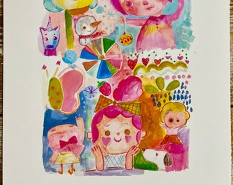 Playful - art print by Mindy Lacefield