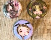 Candy Cauldron - Button set of 3