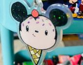 "Mickey Mouse Ice Cream Charm/Keychain - 2"""