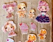 Cupcake Christmas - die cut planner stickers