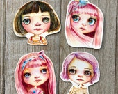 Blythe Doll Inspired  - Vinyl die cut stickers