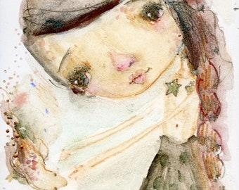 Scarlet  - art print by Mindy Lacefield