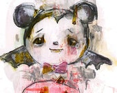 Vampire Mickey  - art print by Mindy Lacefield