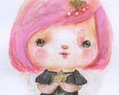 Star Child  - art print by Mindy Lacefield