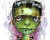Frankenstein  - art print by Mindy Lacefield