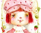 Strawberry Shortcake 2019 - art print by Mindy Lacefield