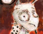 Baby Frankenweenie  - 5 x 7 art print by Mindy Lacefield