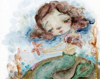 PEARLETTE  - art print by Mindy Lacefield
