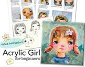 Acrylic girl for Beginners online course