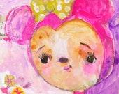 Pink Minnie  - art print by Mindy Lacefield