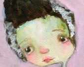 Lil Bride  - 5X7 art print by Mindy Lacefield