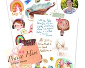 Praise Him collage sheets - by Mindy Lacefield