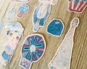 Ice Princess - die cut vinyl planner stickers