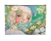 She Sings With Flowers 8 x 12 Pouch