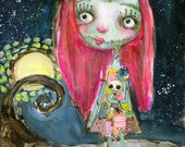 Sally and Jack  - art print by Mindy Lacefield