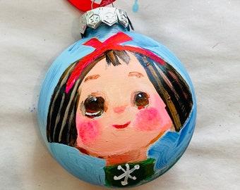 "Snowflake cutie - 3"" original ornament"