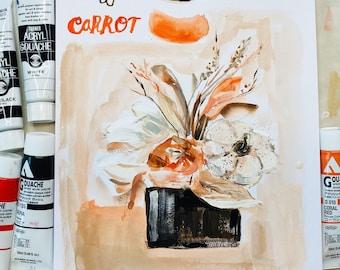 Fall Floral - original 7x10 on watercolor paper