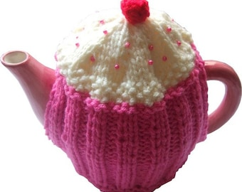 cupcake tea cosy cosie knitting pattern pdf file uk seller instant download