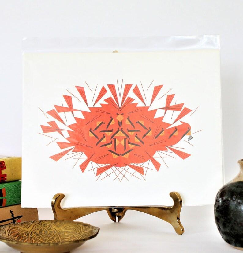 Charley Harper ArtVintage Cardinal Print MCM Art Print image 0