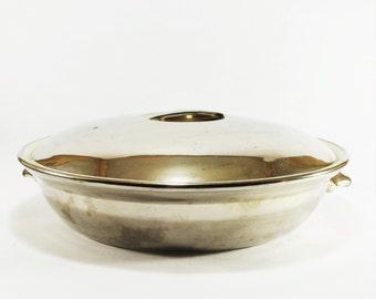 Vintage Royal Worcester Silver Lustre Casserole Dish with Lid,Vintage Kitchen Cookware,Vintage Silver Serving Dish, Modern decor, MCM Tureen