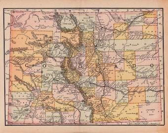 Colorado map | Etsy