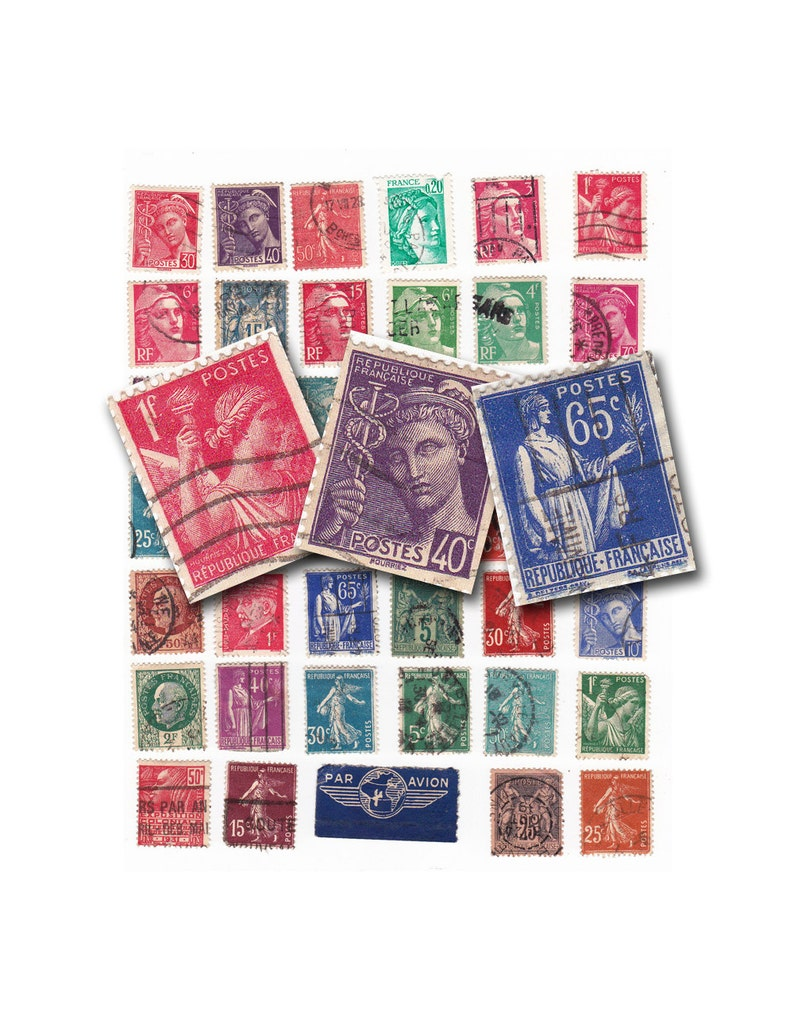 graphic about Stamps Printable identify traditional French postage stamps. printable electronic collage sheet no. 832