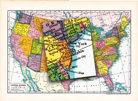 Surprising Vintage United States Map Circa 1930S Classroom Decor Home Decor Journaling Crafts Etc A Printable Digital Download No 1488 Download Free Architecture Designs Scobabritishbridgeorg