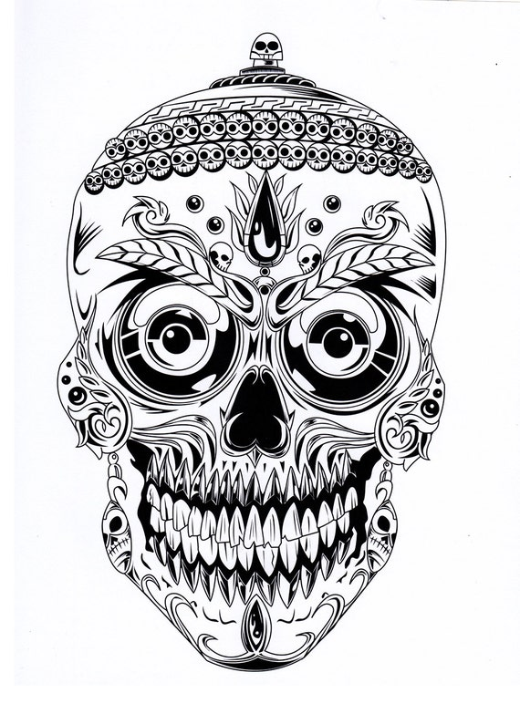 - Skull Coloring Pages Printable Digital Download No. 482. Etsy