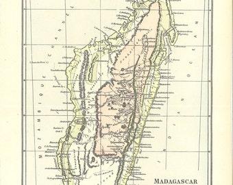 map of Madagascar, a vintage printable digital download, no. 906