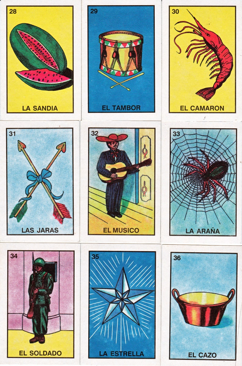 5x5 Loteria Cards