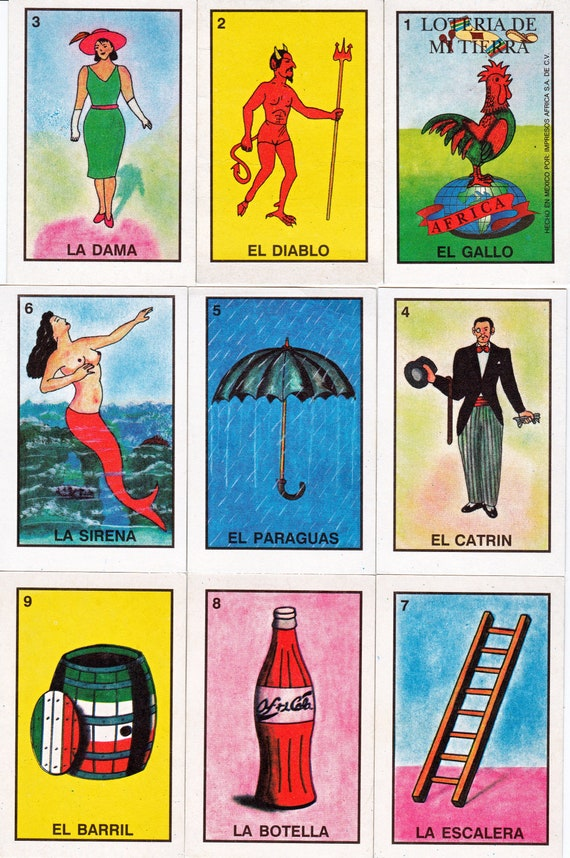 Mexican Loteria Cards Six Pages Of Different Cards Printable Etsy