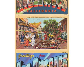 Hollywood and Los Angeles, greetings postcards, a vintage printable digital sheet no. 459