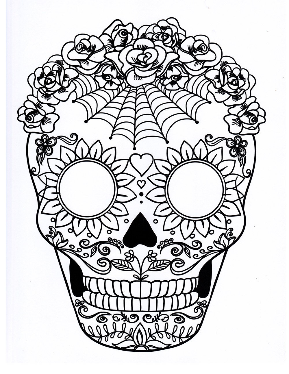 Dynamite image within printable sugar skull