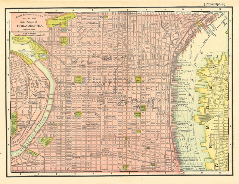 image about Printable Map of Philadelphia referred to as map of Philadelphia towards near 1901, a typical printable electronic map, no. 676.