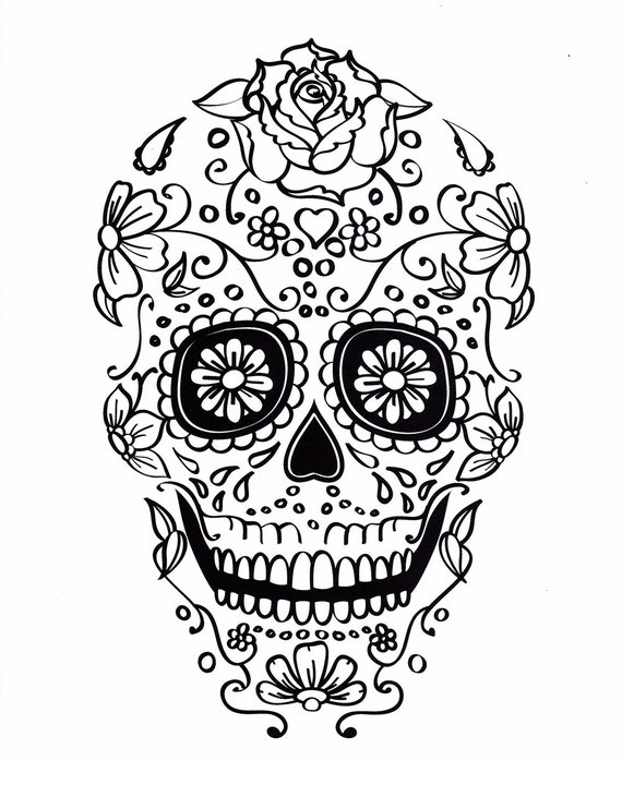 Stupendous image in printable sugar skull