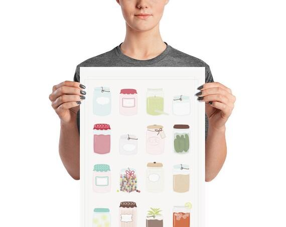 Mason Jars Poster