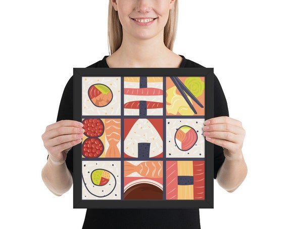 Sushi Pop Art Framed poster