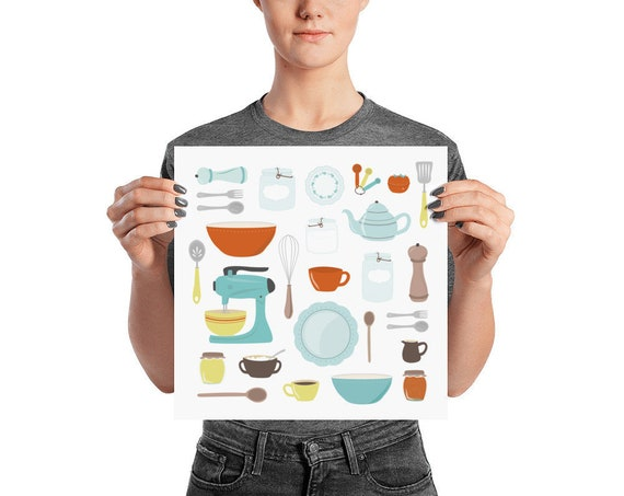 Vintage Kitchen Poster