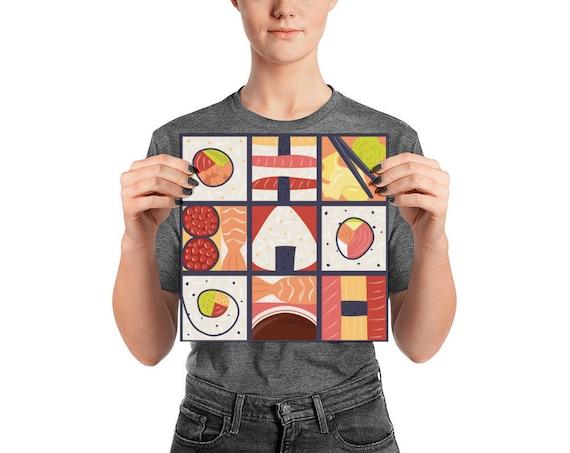 Sushi Pop Art Poster