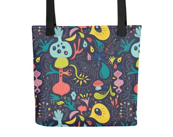 Fluorescent Garden Tote bag