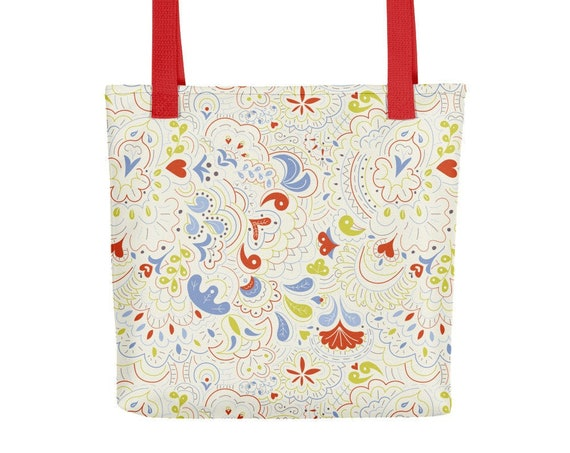 Foliage in Cream Tote